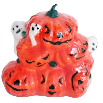 Halloween Pumpor med Spöken Ljus 7 cm, 5013921138771