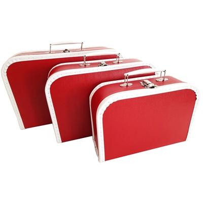 Resväskor i Papp Röda 3-Pack, 600013BR