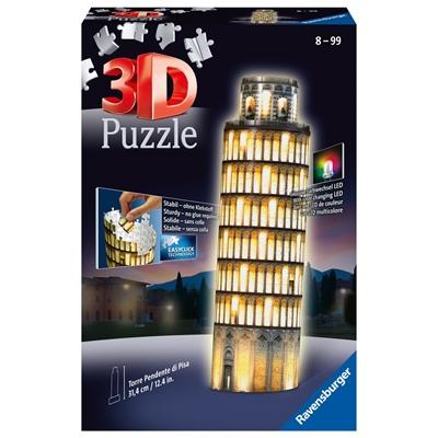 Ravensburger 3D Pussel 216 Bitar Night Edition Pisa, 125159