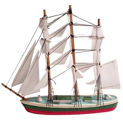 Prydnads Segelbåt i Trä 20 cm, 754001948