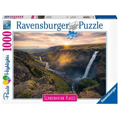 Ravensburger Pussel 1000 Bitar Haifoss Waterfall Iceland, 167388