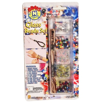 Craft n Fun Glass Beads Set - Box med Glaspärlor, 28936A