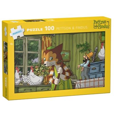 Kärnan Pussel 100 Bitar Pettson & Findus, 540013