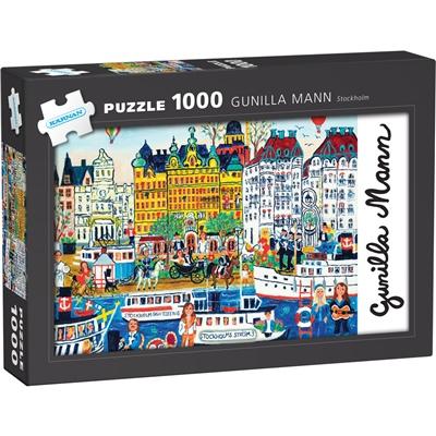 Kärnan Pussel 1000 Bitar Gunilla Mann - Stockholm, 580063