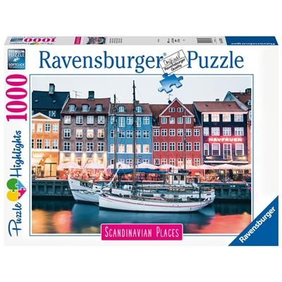 Ravensburger Pussel 1000 Bitar Copenhagen Denmark, 167395