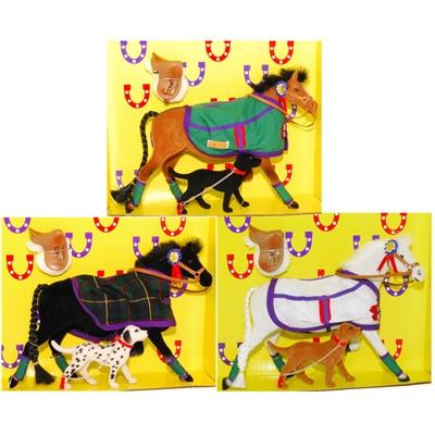 Pony World Travande Hästar med Hundar 3-Pack, A52-3