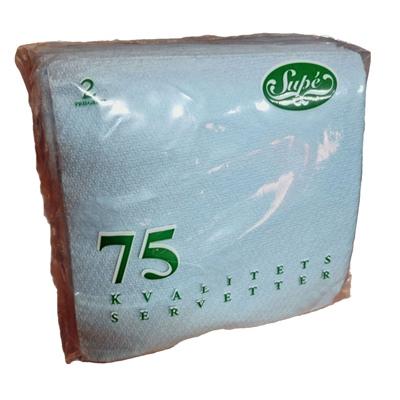 Servetter Ljusblå 75-Pack, 000199LB