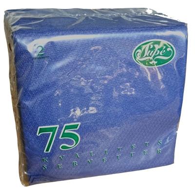 Servetter Mörkblå 75-Pack, 000199MB