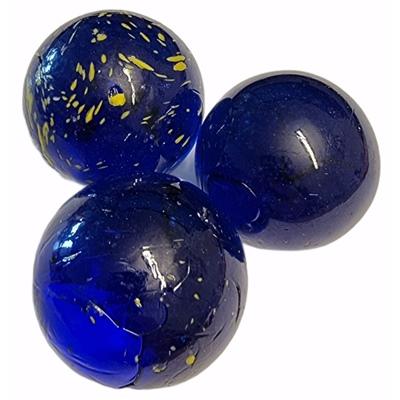 Glaskulor 3-Pack Blå Prickiga 30 mm, 27.2707