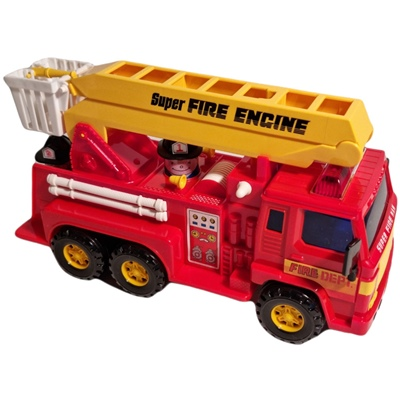 Super Fire Engine - Brandbil med Friktionsmotor 32 cm, DS-404