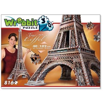 Wrebbit 3D Pussel 816 Bitar Eiffeltornet, 02009
