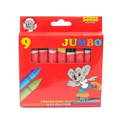 Sense Färgkritor Jumbo 9-pack, 10109