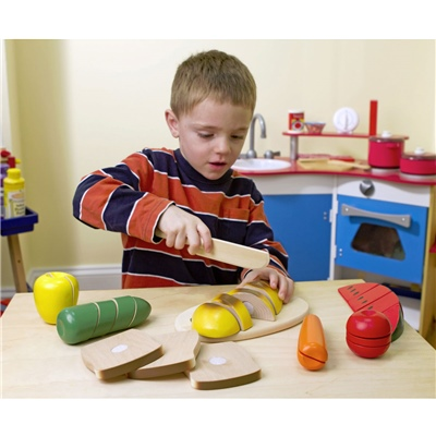 Melissa & Doug Wooden Cutting Food, 10487