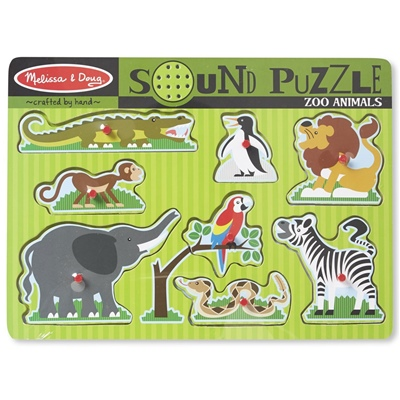 Melissa & Doug Zoo Animals Sound Puzzle, 10727
