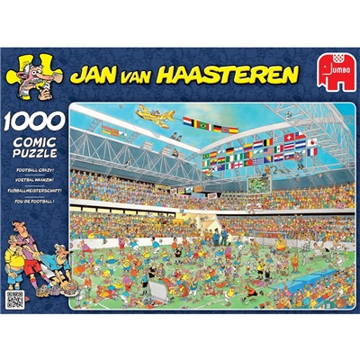 Jan van Haasteren Pussel 1000 Bitar Football Crazy, 17459