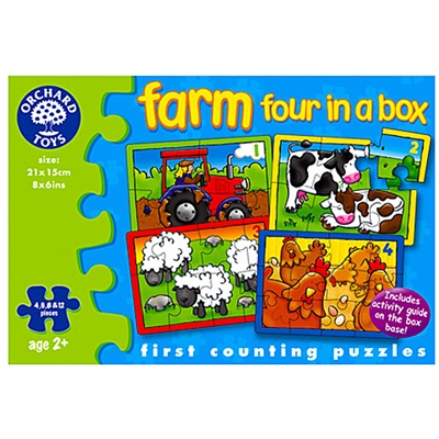 Orchard Toys Pussel Farm Four in a Box, 209