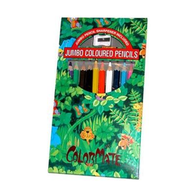 Träfärgpennor Jumbo 12-Pack, 212422SU