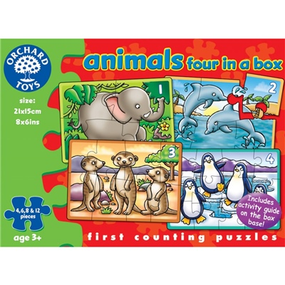 Orchard Toys Pussel Animals Four in a Box, 220O