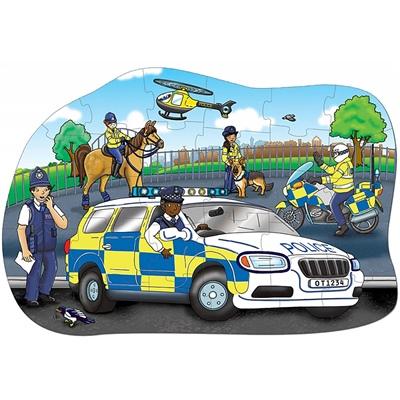 Orchard Toys Pussel 30 Bitar Big Police Car, 255OT