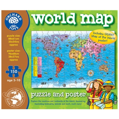 Orchard Toys Pussel 150 Bitar World Map, 280