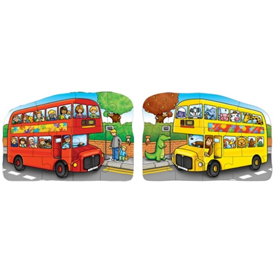 Orchard Toys 2-sidigt Pussel Little Bus, 301