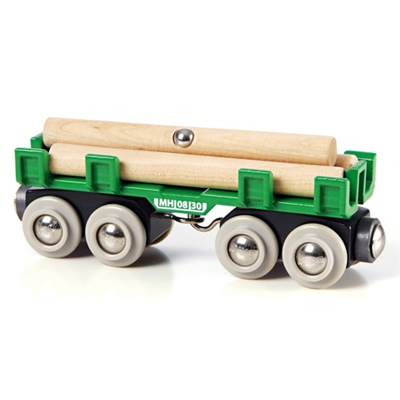 BRIO Timmervagn med timmer, 33696