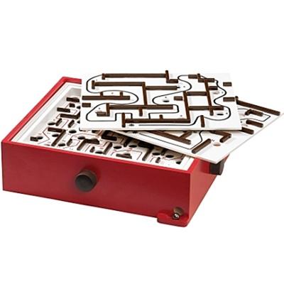 BRIO Labyrinth Spel - Röd med 2 st Övningsplattor, 34020