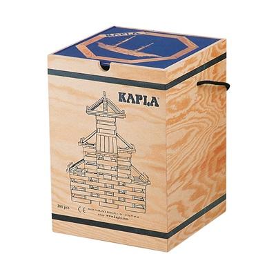 Kapla Byggstavar 280 st i Trälåda med Kaplabok Blå, 5008K