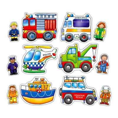 Orchard Toys Pussel 2 och 3 Bitar Rescue Squad, 5011863301116