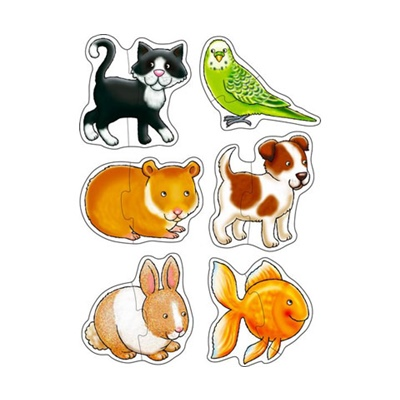 Orchard Toys Pussel 2 Bitar Pets, 5011863301321